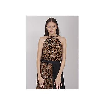 Saint Tropez Leopard High Neck Vest