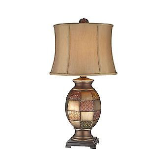Aged metal deliah table lamp stein world