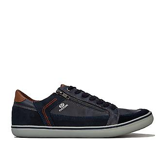 Mens Geox Halver Trainers In Navy- Equipped With Geox Respira Technology