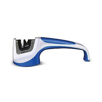 Afilador de cuchillos AccuSharp Pull-Through, fino y grueso, blanco/azul #036C