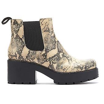 Vagabond Dioon Womens Sand / Black Leather Boots