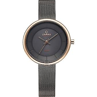 Obaku Lys Granite Women's Wristwatch V206LRVJMJ