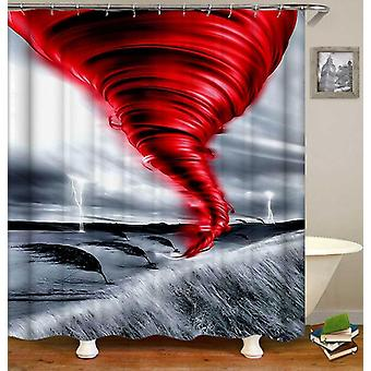 Red And Grey Twister Shower Curtain