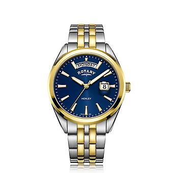 Rotary GB05291-05 Men's Henley Two Tone Day Date Wristwatch