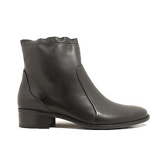 Paul Green 8063-02 zwart lederen Womens Smart zip laarzen
