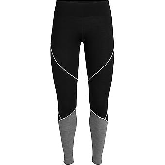 Icebreaker Women's Oasis Deluxe Leggings - Black/Gritstone Heather