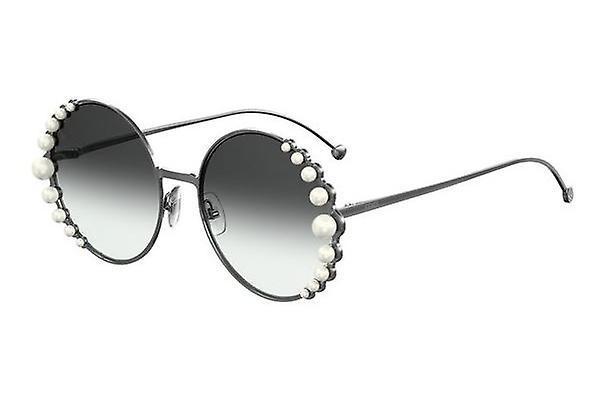 Fendi Ribbons and Pearls FF0295/S KJ1/9O Dark Ruthenium/Dark Grey Gradient Sunglasses