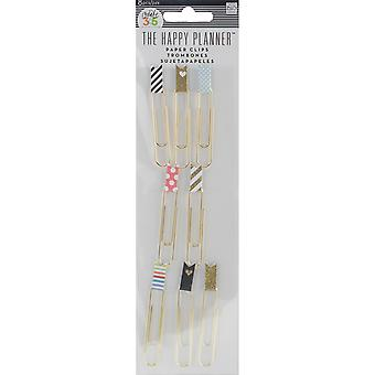 Happy Planner Paperclips W/Flags 8/Pkg-