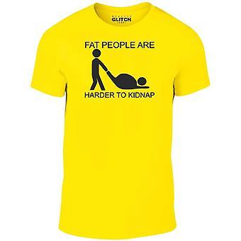 太っている人はTシャツを誘拐するのが難しい