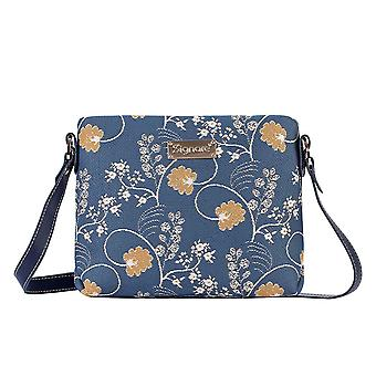 Jane Austen blå skulder Cross Body bag av signare billedvev/xb02-Aust