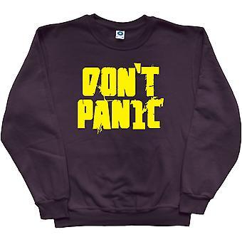 Don't Panic Black Sweatshirt