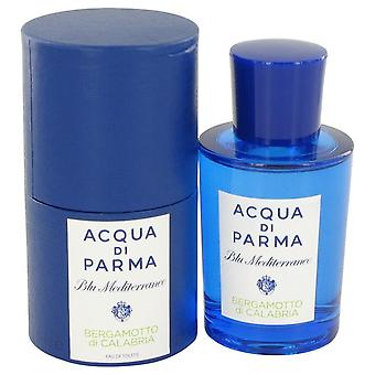 Blu mediterraneo bergamotto di calabria eau de toilette spray by acqua di parma 497206 75 ml