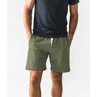 Olive plain shorts
