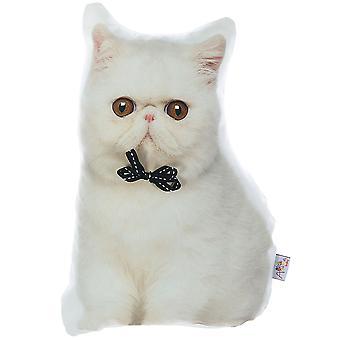 Almohada llena de forma de gato persa, almohada en forma de animal