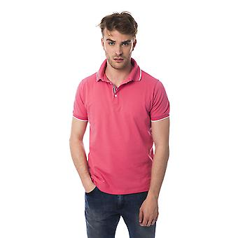 Pink Bagutta men's short sleevepolo