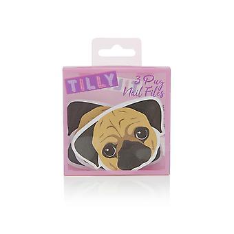 Tilly & Friends Pug Nail Files (3 Nail Files)