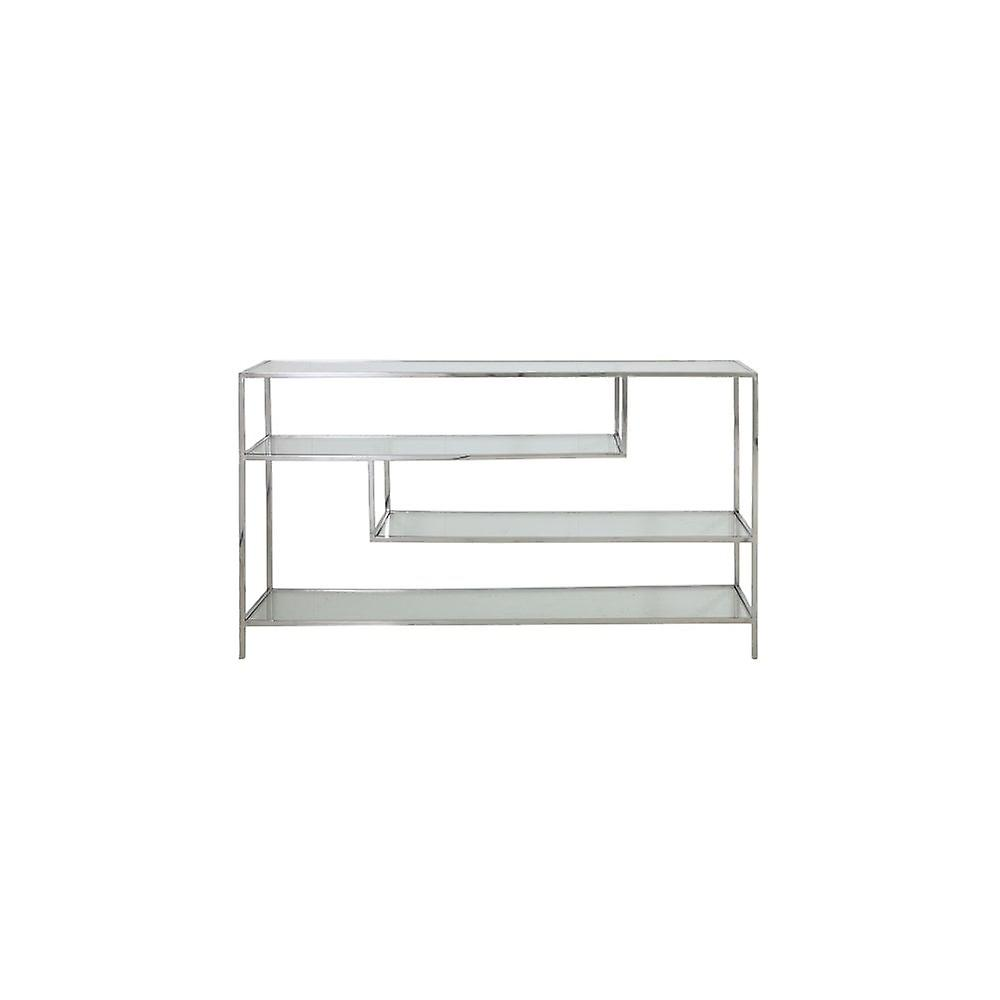 Cabinet léger et vivant Ouvert 140x35x80cm Ylaya Nickel-Clear Glass