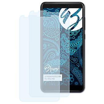 Bruni 2x Screen Protector compatible with Wiko Y60 Protective Film