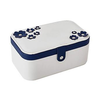 Jewelry box with flowers - White