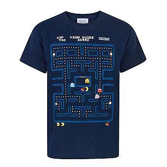 Pacman T Shirt Boys Classic Action Scene Arcade Game Kids Top