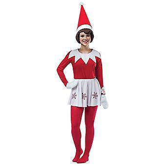 Elfe sur un rouge femelle d'étagère
