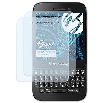 Bruni 2x Schutzfolie kompatibel mit Blackberry Q5 Folie