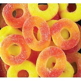 Albanese Gummi Peach Ringar-( 19.95lb )