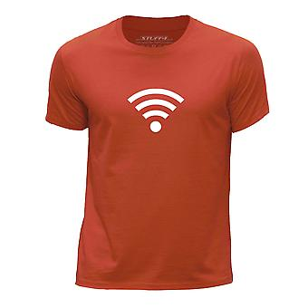STUFF4 Boy's Round Neck T-Shirt/Hipster Fashion / Wi-Fi/Orange