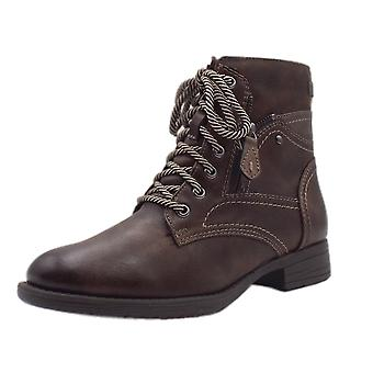 Soft Line 25217 Crested Wide Fit Smart-casual Ankle Boot In Chestnut
