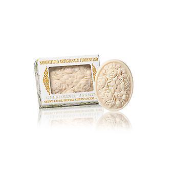 Saponificio Artigianale Fiorentino Handmade Soap - Jasmine - Filigree Decorated in Gift Box 125g