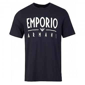 エンポリオ アルマーニ イーグル ロゴ ストレッチ T シャツ ネイビー 3H1T90 1J0AZ