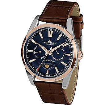 Jacques Lemans reloj de pulsera para hombre Liverpool Moonphase cuero de cuarzo 1___1901d