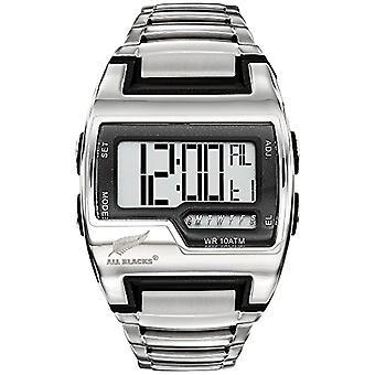 Los hombres de negros reloj digital de cuarzo con correa de acero inoxidable 680361