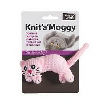 מייבש שחור נפילה לסרוג צעצוע של חתול מוגי