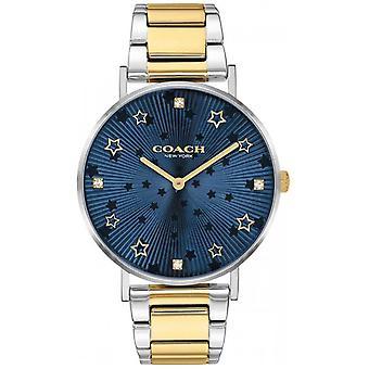 Proprietà Coach . Donne's Perry Bracciale in acciaio bicolore Blu Star Quadrante 14503523 Orologio