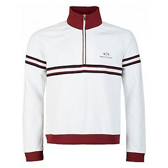 Armani Exchange Half Zip Stripe Sweatshirt