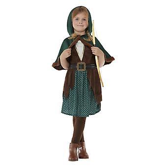 Girls Forest Archer Huntress maškarný kostým
