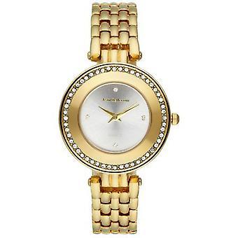 Jean Bellecour Business REDT23 Watch - Women's Gold Crystal Watch