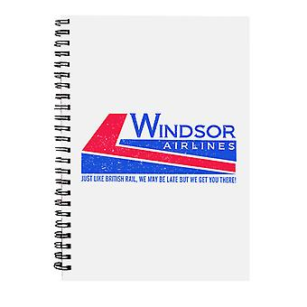 Quaderno a spirale di Die Hard Windsor Airlines