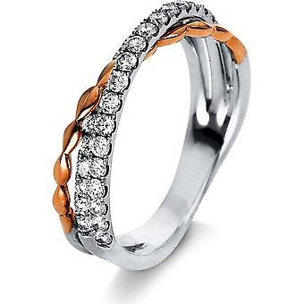 DiamantringRing - 750/- GG/WG - 0,63 ct. - 1R164RW853 - RW: 53