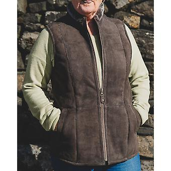 Nordvek Womens Sheepskin Bodywarmer - Suede SheepskinGilet # 711-100