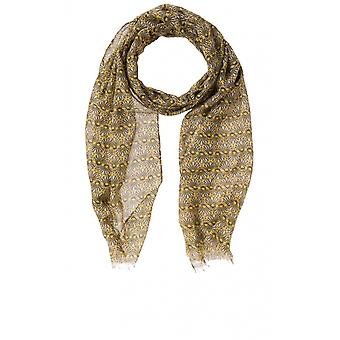 Olsen Yellow Patterned Scarf