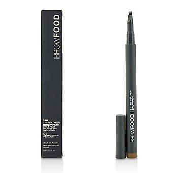 Brow food 24 h tri feather brow pen   brunette 1ml/0.03oz