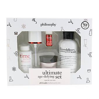 Philosophy Ultimate Age-defying Set (repair & Rejuvenate):  Facial Wash 120ml + Serum 25ml + Activator 2ml + Cream Spf 30 15ml - 4pcs