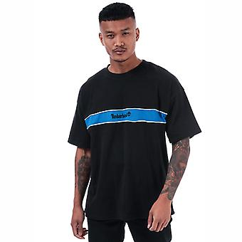 Men's Timberland YCC Streifen Box T-Shirt in schwarz