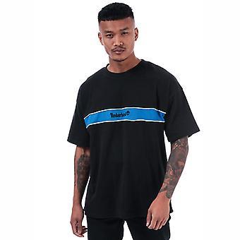 Men's Timberland YCC Stripe Box T-shirt in zwart