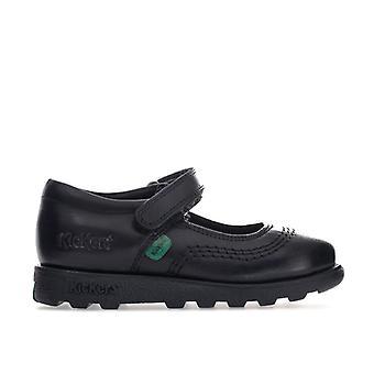 Girl''s Kickers Children Fragma Pop Shoe in Black