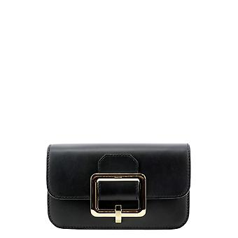Bally 6232459 Women's Black Leather Pouch