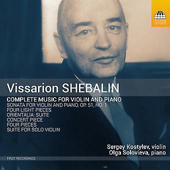 Shebalin / Kostylev / Solovieva - Shebalin / Kostylev / Solovieva: Complete Music for Violin & Piano [CD] USA import