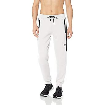 Peak Velocity Men's Stretch Spacer Fleece Athletic-Fit Jogger Sweatpant, Blac...